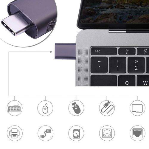 Set of 2 Type-C USB Adapter in Grey