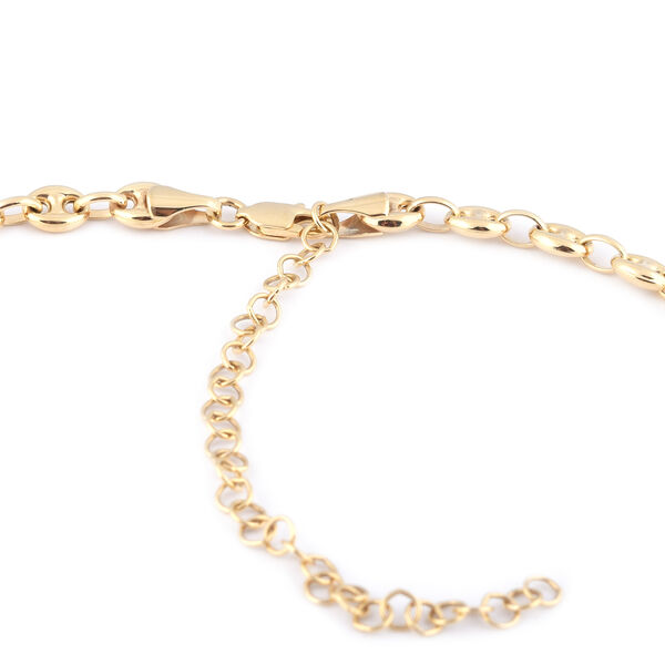 Hatton Garden Close Out- 9K Yellow Gold Mariner Necklace (Size 17 with 3 inch Extender), Gold wt 12.80 Gms
