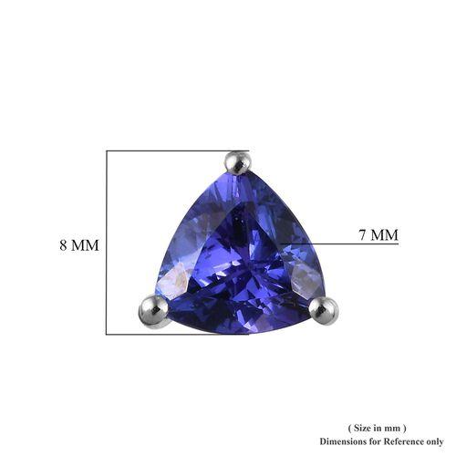 RHAPSODY 950 Platinum AAAA Tanzanite (Trl) Stud Earrings (with Screw Back) 2.50 Ct. Platinum Wt 2.50 Gms