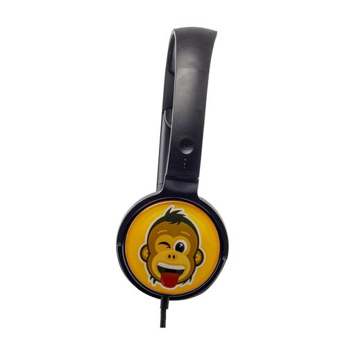 Groov-e EarMOJIs Stereo Headphones - Cheeky Monkey