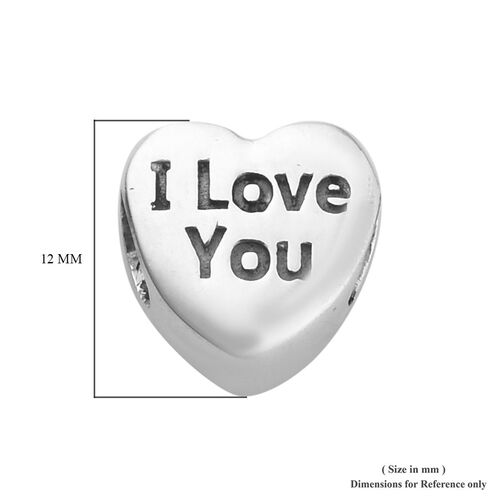 Sterling Silver (I Love You) Heart Charm