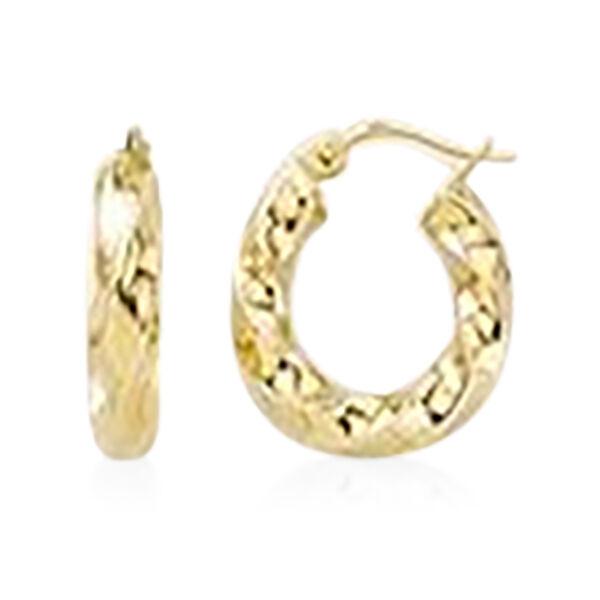 Twisted Hoop Earrings in 9K Yellow Gold