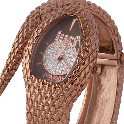 Close Out Deal- JUST CAVALLI: Swiss Movement Dial Watch  - Rose Gold