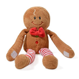 Keel Toys - Christmas Dangly Gingerbread Man Character (Size 12 Cm)