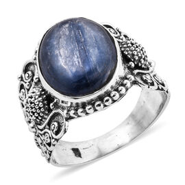 Royal Bali Collection Himalayan Kyanite (Ovl 16x12 mm) Ring in Sterling Silver 9.580 Ct, Silver wt 5.00 Gms.