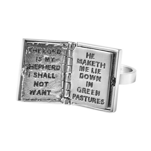 Holy Bible Ring in Stainless Steel