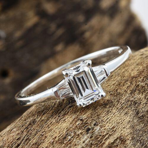 J Francis - Sterling Silver (Rnd) Ring Made with SWAROVSKI ZIRCONIA