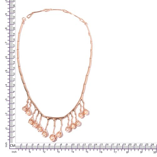 Super Auction LucyQ Fresh Water Pink Pearl  (Pearl) Necklace (Size 16 and 4 inch Extender) in Rose Gold Overlay Sterling Silver. Silver wt 36.73 Gms