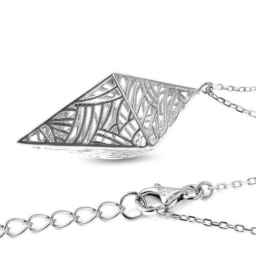 Isabella Liu - Sea Rhyme Collection - Rhodium Overlay Sterling Silver Necklace (Size 20 with 4 inch Extender)