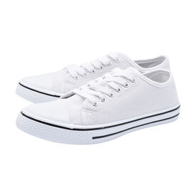 White Star Canvas Lace Up Trainers (Size 3)