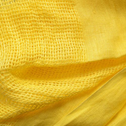 New Season Linen Handloom Woven Yellow Colour Shawl (Size 180x70 Cm)