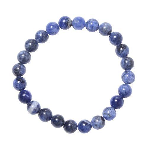 MP Sodalite Beads Stretchable Bracelet (Size 7) 88.500 Ct.