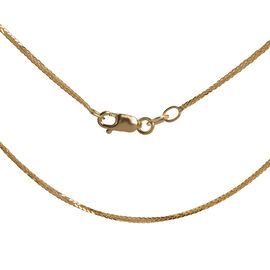 Vicenza Collection ILIANA 18 Inch Diamond Cut Spiga Necklace in 18K Gold 2.13 Grams