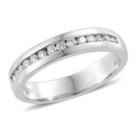 RHAPSODY 950 Platinum IGI Certified (VS/E-F) Diamond (Rnd) Half Eternity Band Ring 0.250 Ct.