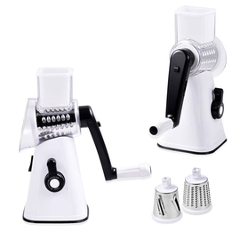 3 in 1 Easyway Vegetable and Fruit Slicer with One Slicing, Shredding and Grating Blade (Size 18x14x28 Cm) - White