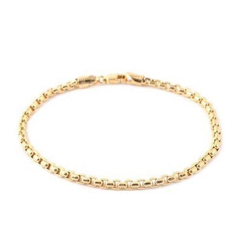 Diamond Cut Box Belcher Chain Bracelet in 9K Yellow Gold 4.45 Grams 7.5 Inch