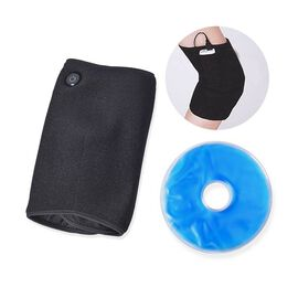 2 in 1 USB Powered Heated Knee Belt with Ice Gel Bag and 3 Heat Setting with Low Voltage (Size 52x28