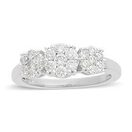 ILIANA 18K White Gold IGI CERTIFIED Diamond (Rnd) Ring (SI/G-H) 0.750 Ct.