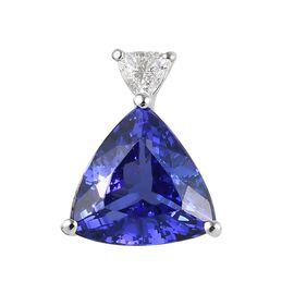 RHAPSODY 950 Platinum AAAA Tanzanite (Trl), Diamond (VS/E-F) Pendant 2.25 Ct