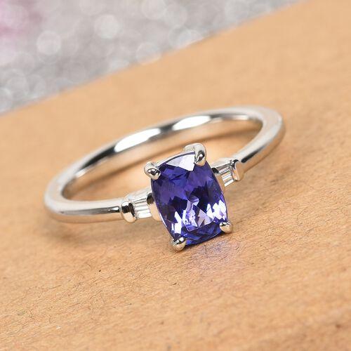 RHAPSODY 950 Platinum AAAA Tanzanite and Diamond Ring 1.03 Ct.
