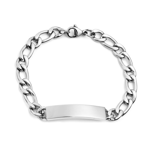 Engraved Bracelet (Size 7.25) in Stainless Steel