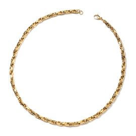 Yellow Gold Plating Stainless Steel Singapore Necklace (Size 22)
