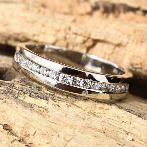 RHAPSODY 950 Platinum IGI Certified Diamond (Rnd) (VS/E-F) Half Eternity Band Ring 0.250 Ct., Platinum wt 5.37 Gms.
