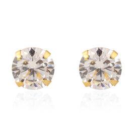 14K Yellow Gold Cubic Zirconia Earrings