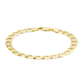 Hatton Garden Close Out Deal-  9K Yellow Gold Curb Bracelet (Size 8),  Gold Wt. 10.12 Gms