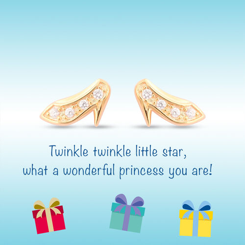 RACHEL GALLEY - Natural Cambodian Zircon Heels Stud Earrings (with Push Back) in Yellow Gold Overlay Sterling Silver