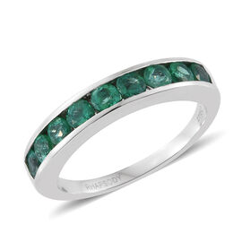 Rhapsody Colombian Emerald 4A (1.00 Ct) 950 Platinum Ring  1.000  Ct.