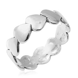 Sterling Silver Heart Ring, Silver wt 3.30 Gms.