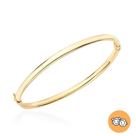 Oval Child Bangle in 9K Gold 4.40 grams Size 5 Inch