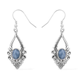 Royal Bali 2.70 Ct Espirito Santo Aquamarine Drop Solitaire Earrings in Sterling Silver