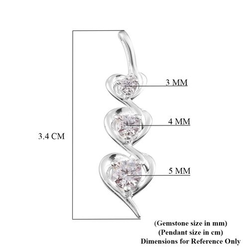 J Francis - Sterling Silver Heart Pendant Made with SWAROVSKI ZIRCONIA