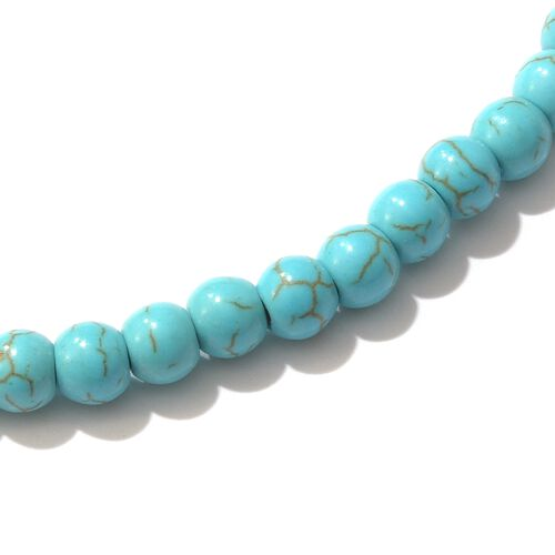 One Time Close Out Deal- Blue Howlite Necklace (Size 36)  169.610  Ct.