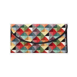 SIGNARE - Tapestry Multi-Coloured triangle Envelope Purse ( 20 x 10 x 3cm) estimated dispatch 4-7 wo