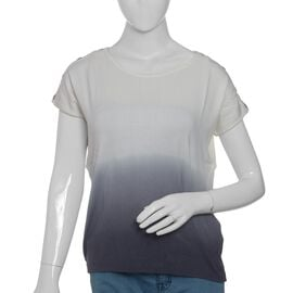 Cool Summer - White and Grey Ombre Dye T-Shirt Size- X Large