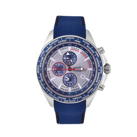 Nautica Ocean Beach 100 ATM Water Resistant Chronograph Mens Watch with Navy Silicone Strap - 46MM