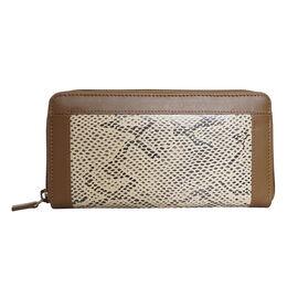 Assots London Animal Print Leather Purse (Size 21x12x2cm) - Tan