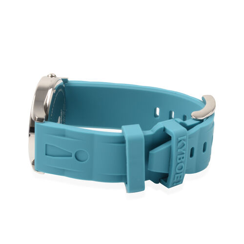 KYBOE Evolve Japanese Movement 100M Water Resistant Tile Blue LED Watch in Stainless Steel with Teal Colour Strap