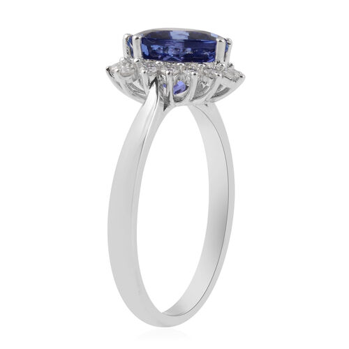 ILIANA 18K White Gold AAA Tanzanite (Trl), Diamond (SI/G-H) Ring 2.79 Ct.