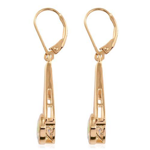 Mercury Mystic Topaz (Rnd) Lever Back Earrings in 14K Gold Overlay Sterling Silver 2.750 Ct.