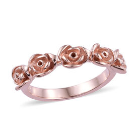 Rose Gold Overlay Sterling Silver Rose Ring