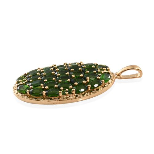 Russian Diopside (Ovl) Pendant in 14K Gold Overlay Sterling Silver 8.500 Ct.
