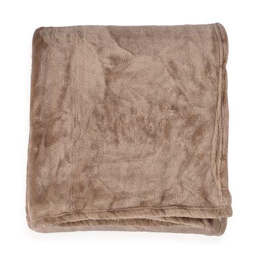 Superfine 290 GSM Microfibre Flannel Blanket Grey Colour 150x200 cm