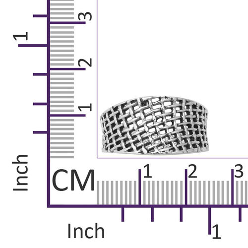 Sterling Silver Weave Net Ring