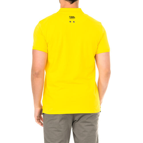 Karl Lagerfeld - Mens Basic Polo Short Sleeve - Yellow Size S