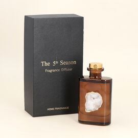 The 5th Season Grasse Style Fragrance Diffuser Crystal Hole Agate High Bottle 180 ML - Brown
