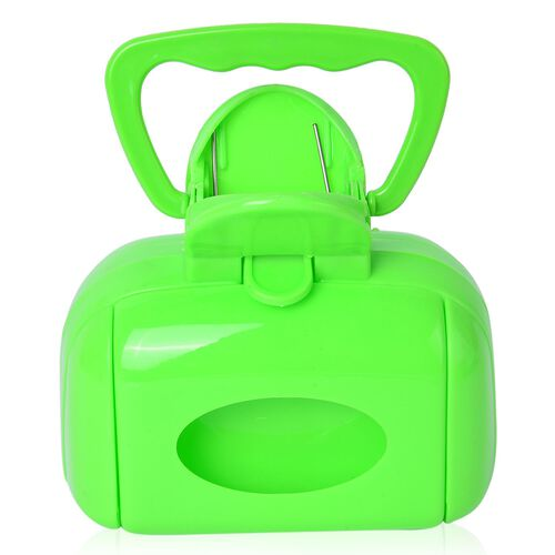 Pet Accessories - Green Colour Poop Scooper, Squeeze Water Bottle, Silica Bowl and Dog Neck LED Strap with Buckle